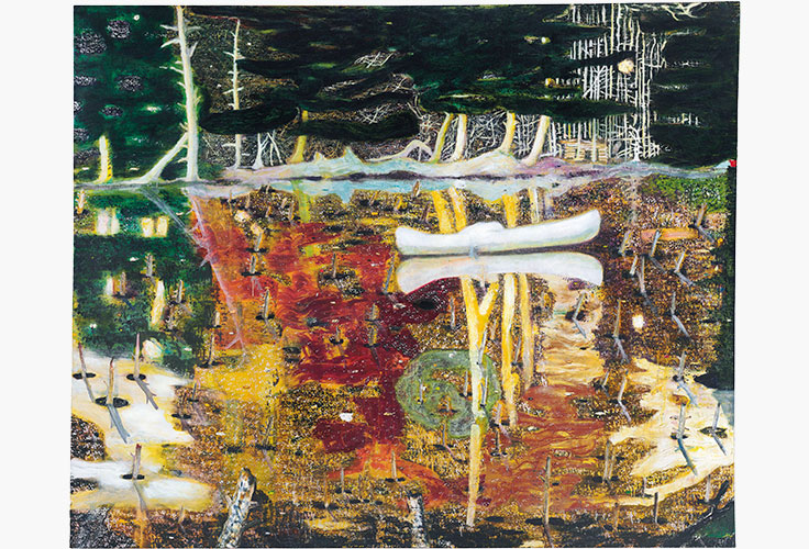 Peter Doig Swamped (1990) Photo : Christie's