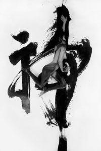 Divin, 110x165cm, elle signifie, tirage sur support Fine Art Lisse Harman by Hanemulhe 300gr avec encres charbon.