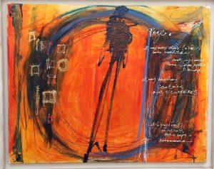 Page, huile sur toile, 2013, 92 x 73 cm