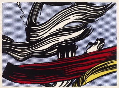 Roy Lichtenstein, Brushstrokes, 1967 Sérigraphie en couleur. - 555 x 765 mm. British Museum, Londres 1979,1215.1 © Trustees of the British Museum et © Estate of Roy Lichtenstein New York / Adagp, Paris, 2018