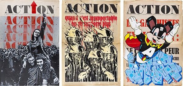 Ci-dessus de gauche à droite : JEF AEROSOL | BRUSK | BATES